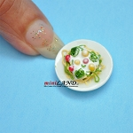 Meal on a plate salad for dollhouse miniature 1:12 scale Handmade