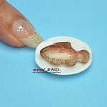 Fish on a plate for dollhouse miniature 1:12 scale Handmade SEA008