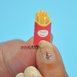French fries for dollhouse miniature 1:12 scale Handmade