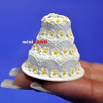 Wedding Cake for 1:12 Scale dollhouse miniature handmade polymer clay wc011