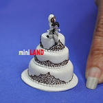 Wedding Cake for 1:12 Scale dollhouse miniature handmade polymer clay wcb5
