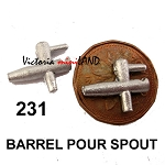 BARREL POUR SPOUT 2pcs 3/4