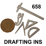 DRAFTING tools unfinished DIY metal miniature for dollhouse - Do it yourself