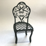 Garden Chair 1.812/3 miniature dollhouse furniture 1/12 scale metal green