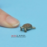 "Tan Turtle ¼""H/⅝""L For dollhouse miniatures 1:12 scale"