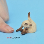 "Cat Siamese 1""H/1⅛""L/¾""W For dollhouse miniatures 1:12 scale"