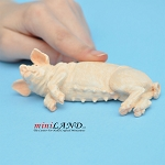 "pig 1-¾""H/4-¼""L/2""W Female For dollhouse miniatures 1:12 scale"
