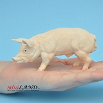 "pig 2""H/4-¼""L/1-½""W male For dollhouse miniatures 1:12 scale"