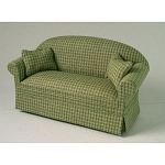Ashley green  sofa A114 for dollhouse miniature 1:12 scale