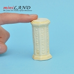 Pedestal for dollhouse miniature 1:12 scale Ivory