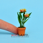 Bird of Paradise in pot for dollhouse miniature 1:12 scale