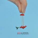 "Hummingbird Feeder ¾""H for 1:12 scale dollhouse miniature"
