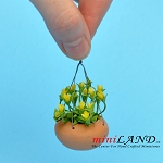 Hanging Pot Hypericum ELO for dollhouse miniature 1:12 scale
