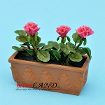 Red Geranium In Window Box  for dollhouse miniature 1:12 scale
