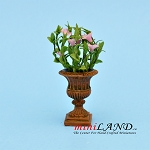 Petunia In Urn - Pink for dollhouse miniature 1:12 scale