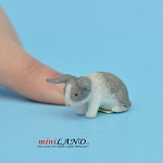 Rabbit S Light Gray For dollhouse miniatures 1:12 scale