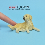 Golden Retriever-Laying Dog for Dollhouse miniature 1:12 scale