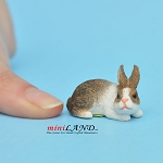 Sniffing Rabbit Brown For dollhouse miniatures 1:12 scale