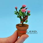 Roses In Pot - Purple for dollhouse miniature 1:12 scale