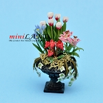 Arrangement Pink Lilies for dollhouse miniature 1:12 scale