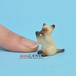 Playing Kitten Siamese For dollhouse miniatures 1:12 scale