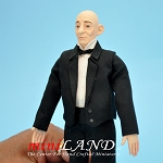 GEORGE - Bald older man in elegant elegant tuxedo 1:12 scale