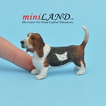 Basset Hound-Standing Dog for Dollhouse miniature 1:12 scale