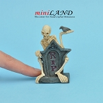 Halloween Mr. RIP grave for dollhouse miniature 1:12 scale