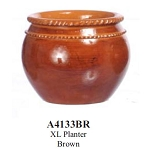 Flower Planter XL Planter Brown for dollhouse miniatures 1:12 scale