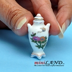 White ceramic vase with lid dollhouse miniature 1:12 B