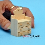 Wooden accessory box with drawers dollhouse miniature 1:12