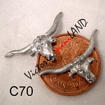 LONG HORN STEER SKULL 2 PCS 1
