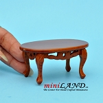 Wooden coffee table with detailing dollhouse miniature 1:12