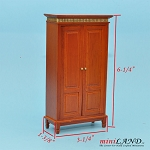 Clearance sale - cognac  cupboard for dollhouse miniature 1:12 scale