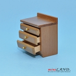 Clearance sale - Teak BEDSIDE TABLE for dollhouse miniature 1:12 scale