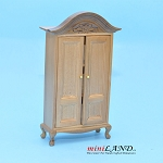 Clearance sale - Teak WARDROBE for dollhouse miniature 1:12 scale