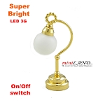 Table Lamp globe LED Super bright with On/off switch for 1:12 dollhouse miniature