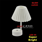 DIY White lamp table light  LED Super bright with On/off switch