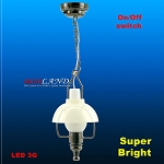 Black  American swag lamp LED Super bright with On/off switch