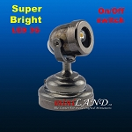 BLACK spot light  lamp LED Super bright with On/off switch