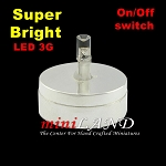 DIY SILVER light  lamp LED Super bright with On/off switch