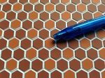 Hexagon Tile Dark Terra Cotta Flooring for your Dollhouse 1:12 scale