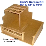 Miniature Barb's garden Kit 1:12 dollhouse wooden roombox