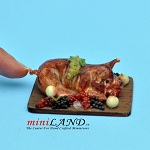 Roast Pig dollhouse miniature 1:12