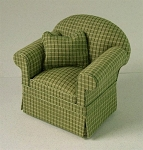 Ashley green Chair A101 for dollhouse miniature 1:12 scale