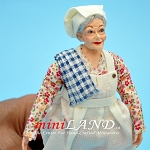 MARY - Cooking Grandma in Flower Dress 1:12 scale