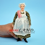 Amy - Cooking Grandma in green Dress 1:12 scale