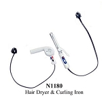 Hair Dryer and Curling Iron dollhouse miniature 1:12 scale