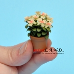 Azalea In Pot for dollhouse miniature 1:12 scale
