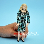 Jennifer - Porcelain doll by Patricia L Thomas Younger woman in elegant floral dress and heels